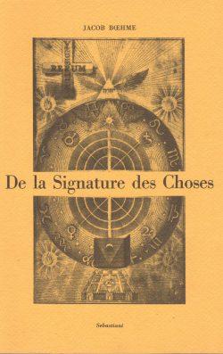 De la Signature des choses