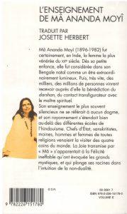 L'Enseignement de Mâ Ananda Moyî