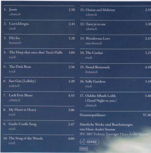CD songs of celtic music